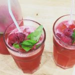 Raspberry and Basil Lemonade